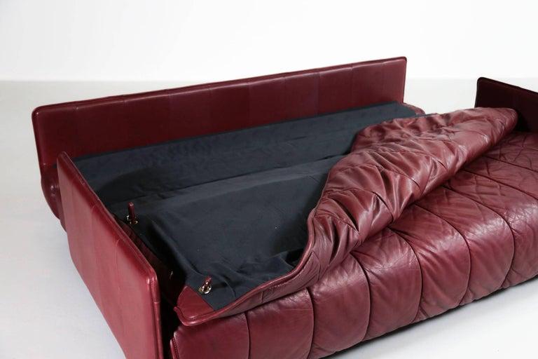 De Sede Leather Sofa Bed, 1970s Swiss Design DS85 DS600 For Sale 7