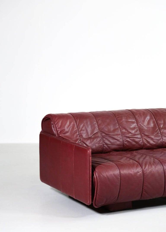 20th Century De Sede Leather Sofa Bed, 1970s Swiss Design DS85 DS600 For Sale