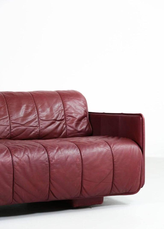 De Sede Leather Sofa Bed, 1970s Swiss Design DS85 DS600 For Sale 1