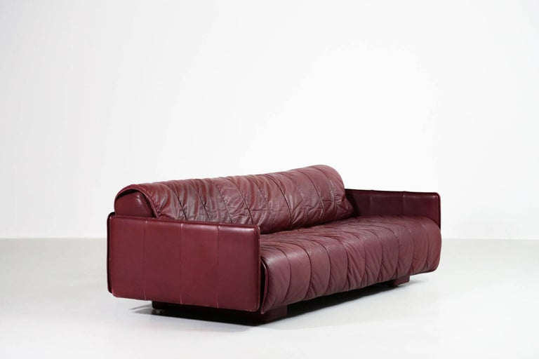 De Sede Leather Sofa Bed, 1970s Swiss Design DS85 DS600 For Sale 2