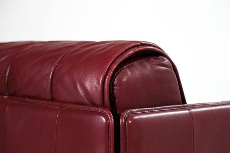 De Sede Leather Sofa Bed, 1970s Swiss Design DS85 DS600 For Sale 3