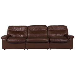 De Sede Leather Sofa Brown Three-Seat Couch