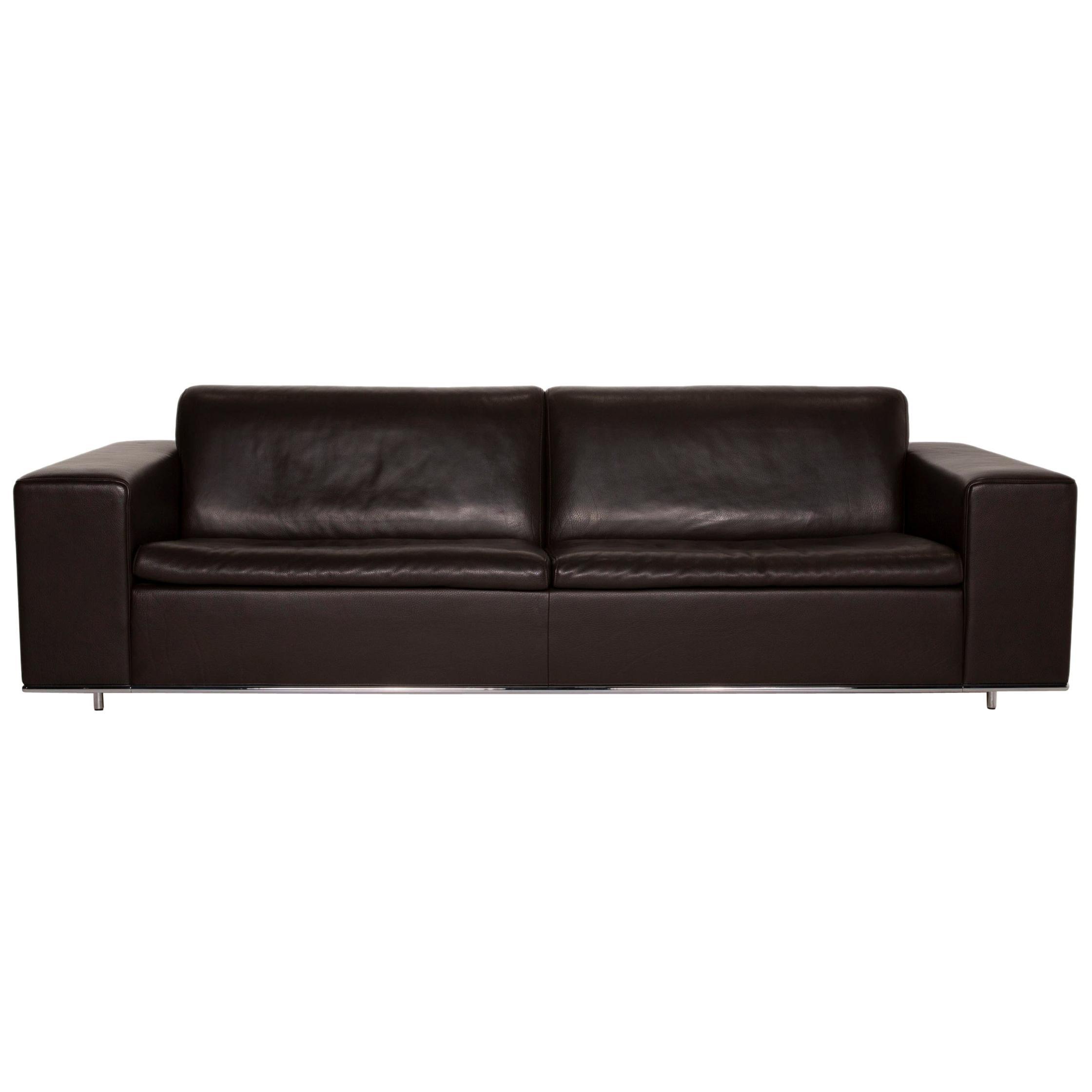 De Sede Leather Sofa Brown Three-Seater