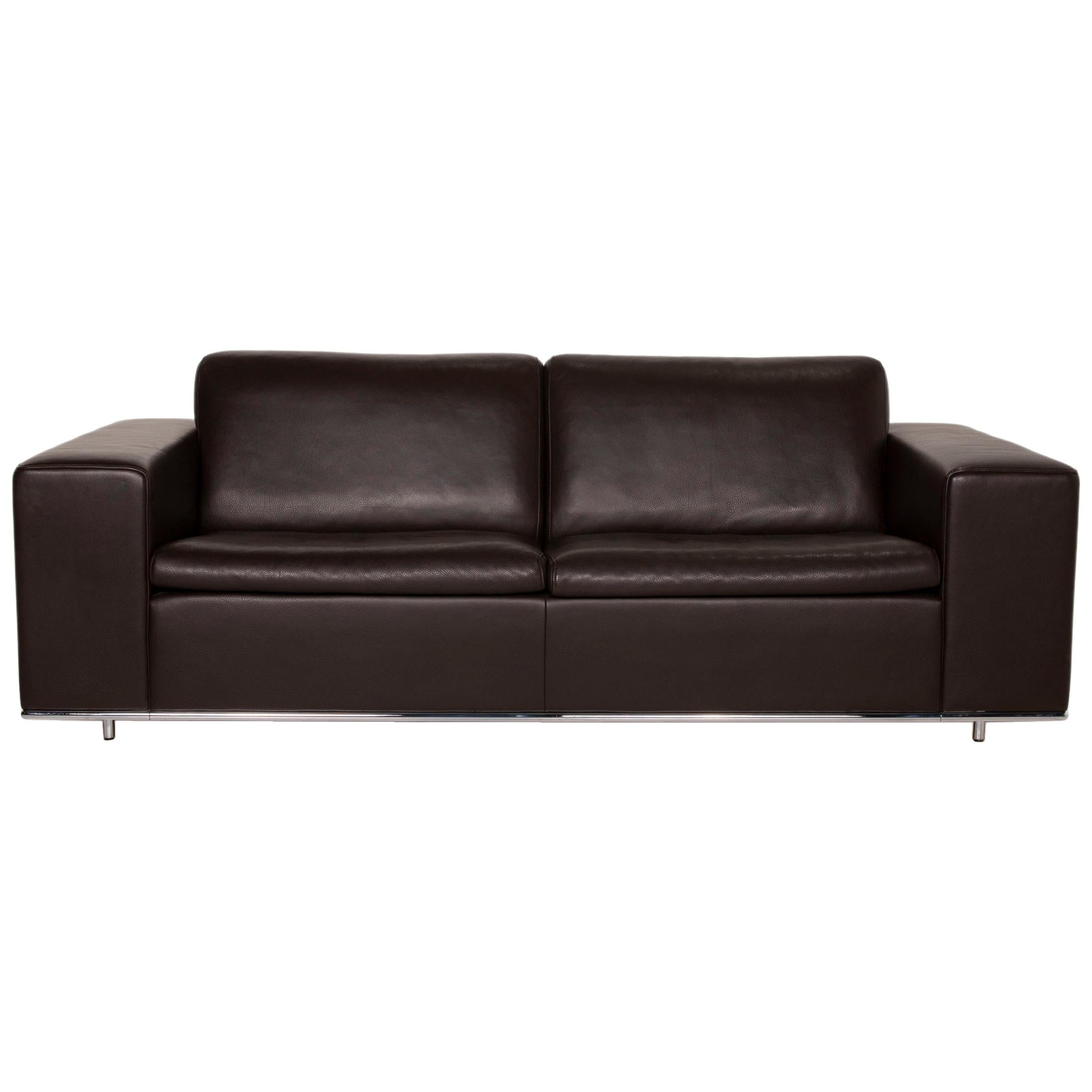 De Sede Leather Sofa Brown Two-Seater