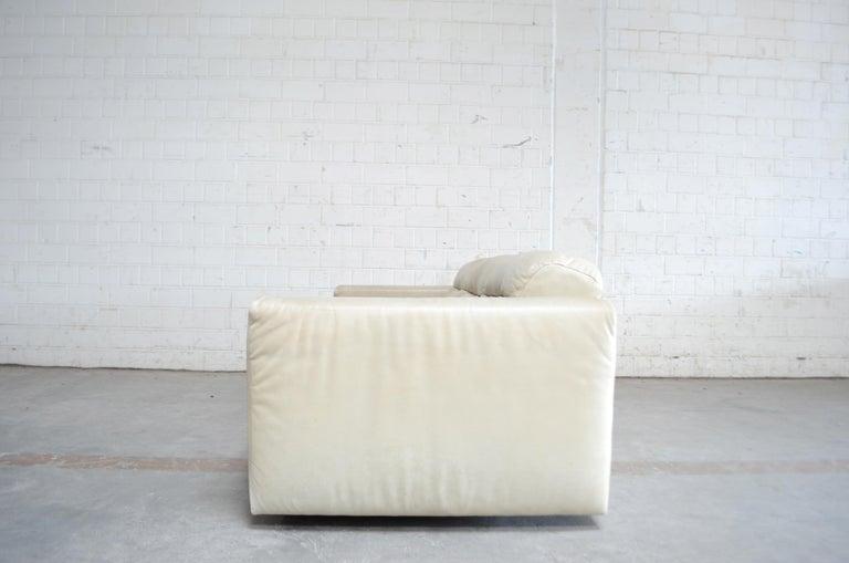 De Sede Leather Sofa DS 105 Ecru White For Sale 8