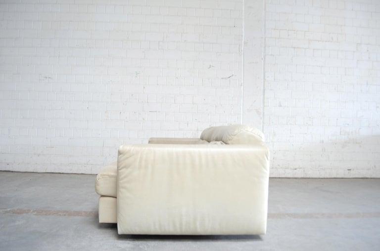 De Sede Leather Sofa DS 105 Ecru White For Sale 9