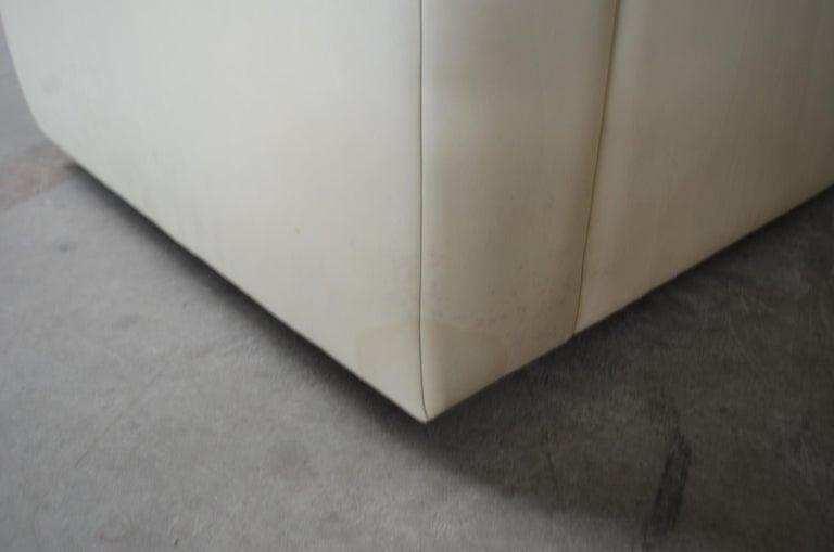 De Sede Leather Sofa DS 105 Ecru White For Sale 13