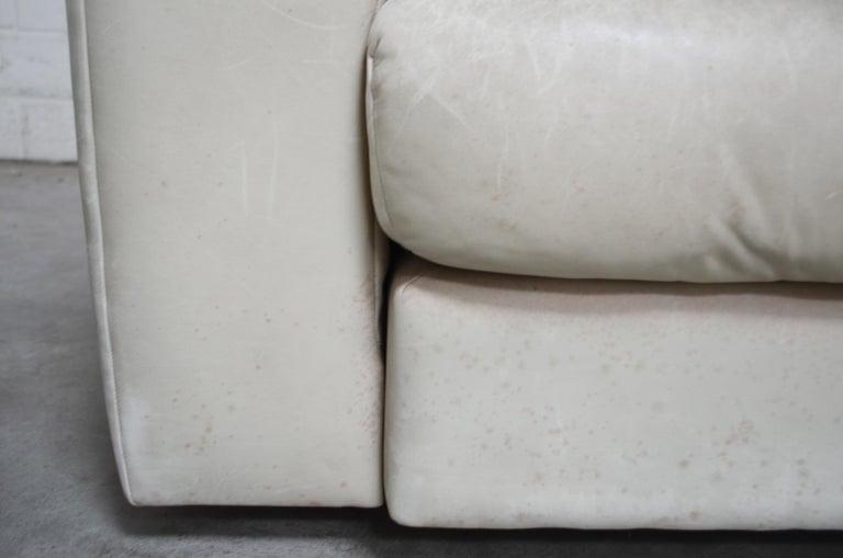 De Sede Leather Sofa DS 105 Ecru White For Sale 14
