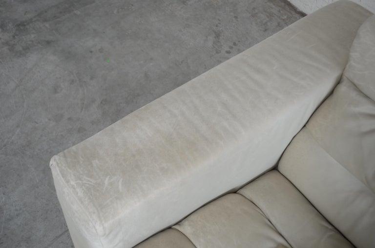 De Sede Leather Sofa DS 105 Ecru White For Sale 1