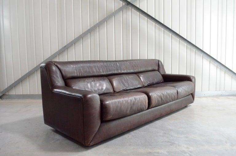 De Sede Leather Sofa DS 43 Brown For Sale 5
