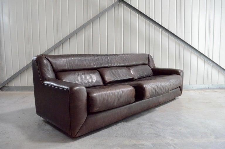 De Sede Leather Sofa DS 43 Brown For Sale 6