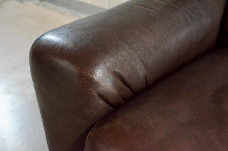 De Sede Leather Sofa DS 43 Brown For Sale 7