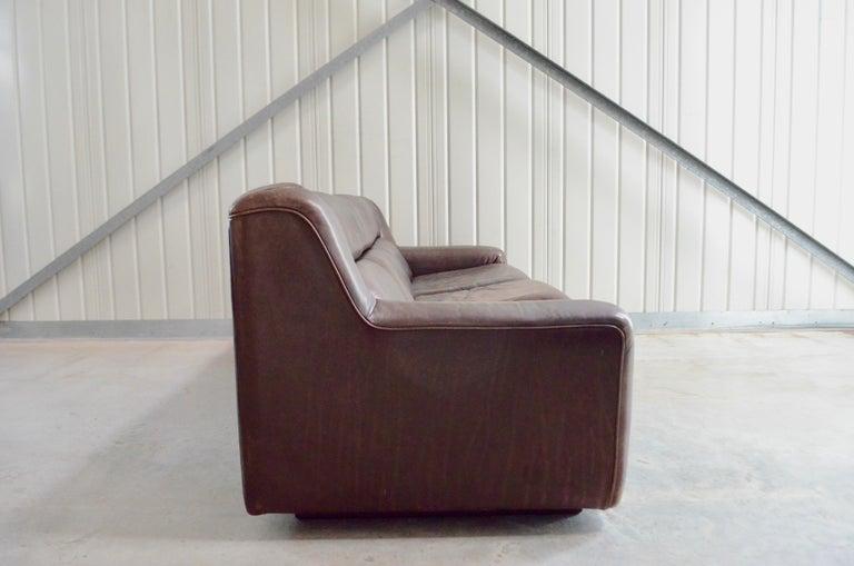 De Sede Leather Sofa DS 43 Brown For Sale 8