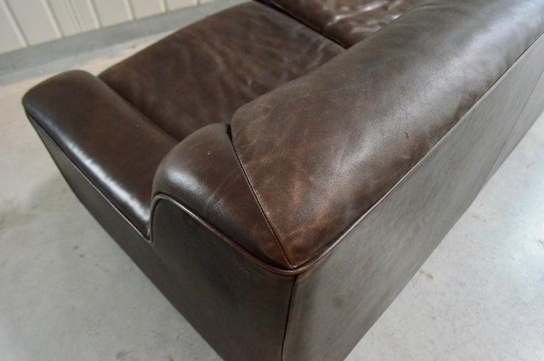 De Sede Leather Sofa DS 43 Brown For Sale 11
