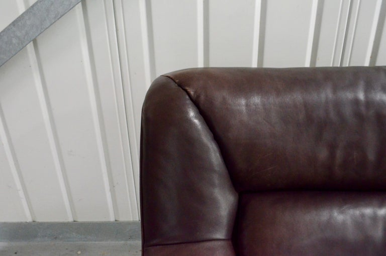 De Sede Leather Sofa DS 43 Brown In Good Condition For Sale In Munich, Bavaria