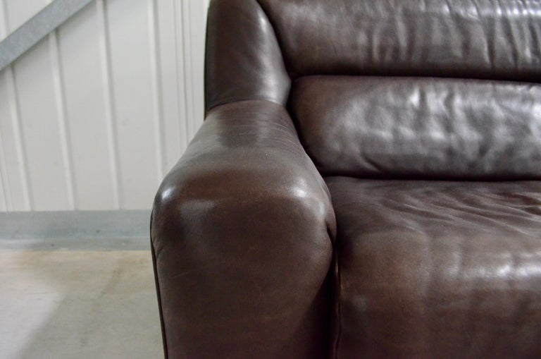 Late 20th Century De Sede Leather Sofa DS 43 Brown For Sale