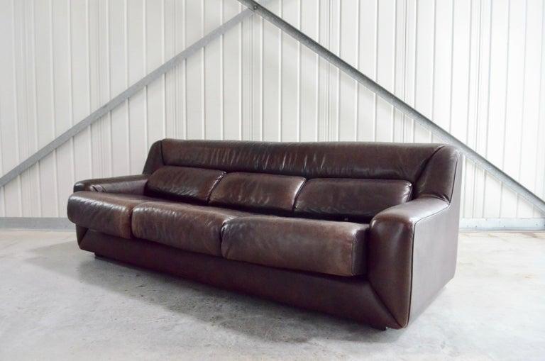 De Sede Leather Sofa DS 43 Brown For Sale 1