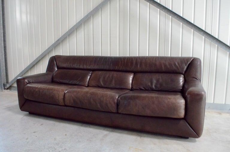 De Sede Leather Sofa DS 43 Brown For Sale 2