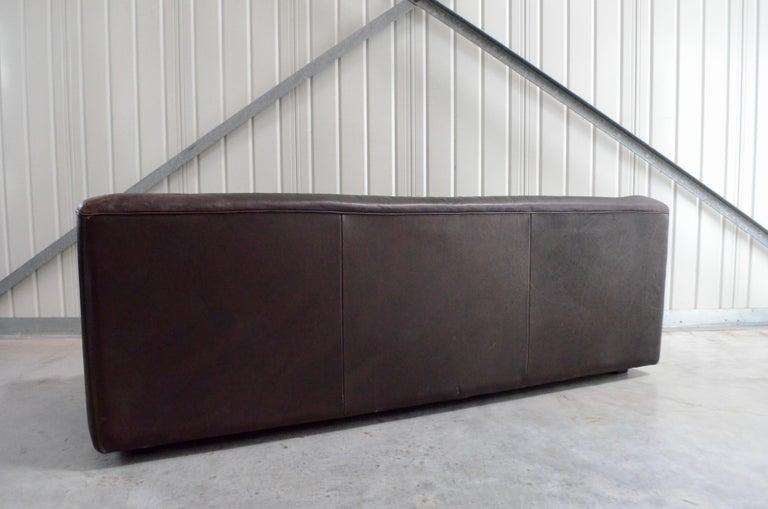 De Sede Leather Sofa DS 43 Brown For Sale 3