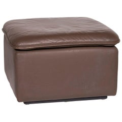 De Sede Leather Stool Brown