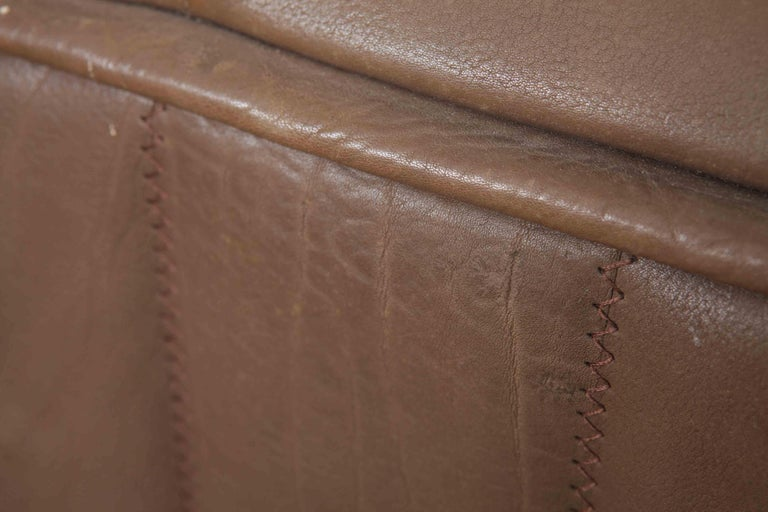 De Sede Model DS 84 Brown Leather Sofa from Switzerland For Sale 5