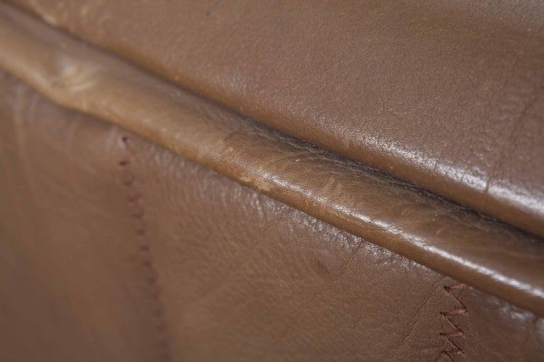 De Sede Model DS 84 Brown Leather Sofa from Switzerland For Sale 6
