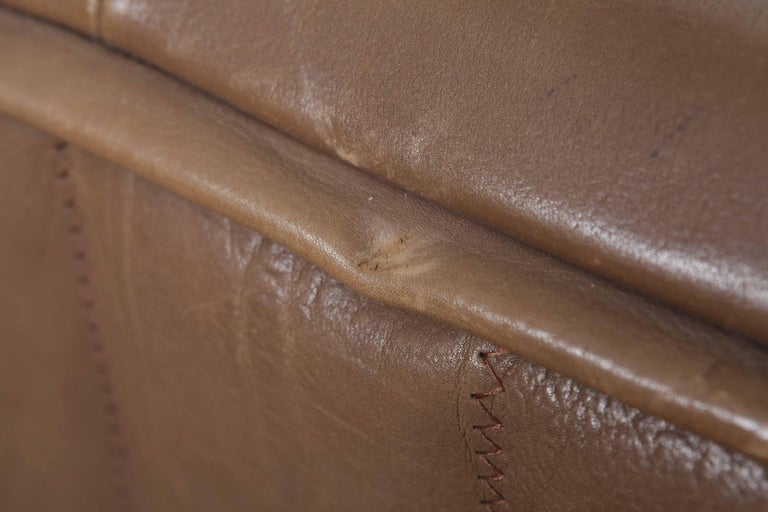 De Sede Model DS 84 Brown Leather Sofa from Switzerland For Sale 7
