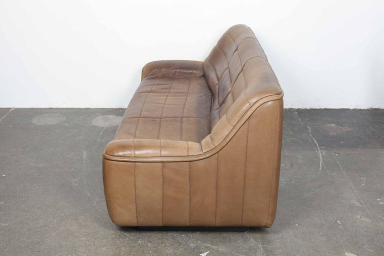 De Sede Model DS 84 Brown Leather Sofa from Switzerland For Sale 9