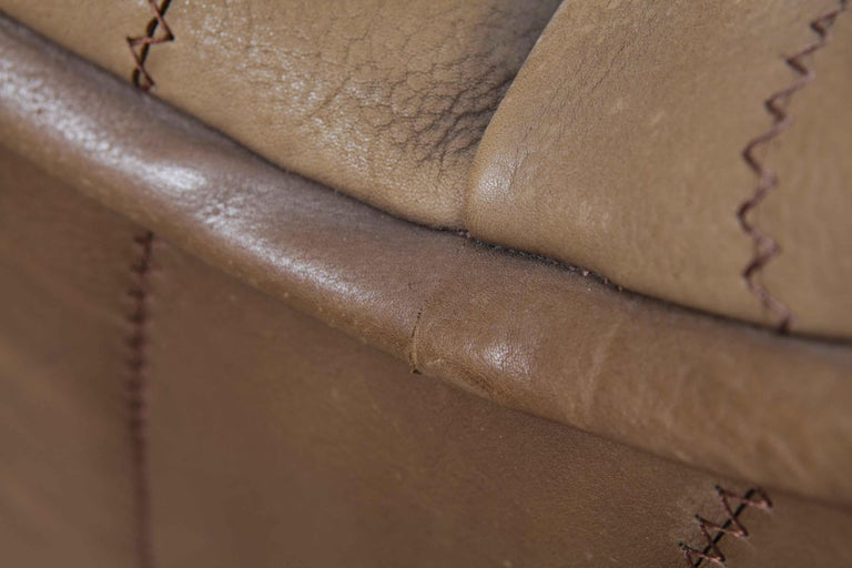 De Sede Model DS 84 Brown Leather Sofa from Switzerland For Sale 11