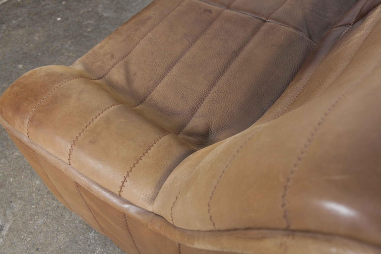 De Sede Model DS 84 Brown Leather Sofa from Switzerland For Sale 12