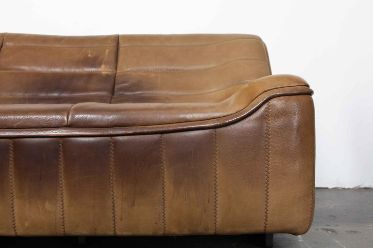 De Sede Model DS 84 Brown Leather Sofa from Switzerland For Sale 13