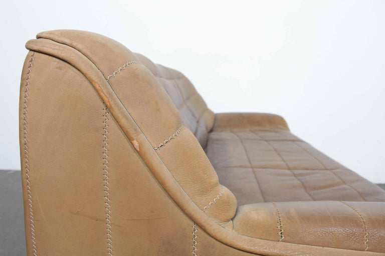 Swiss De Sede Model DS 84 Brown Leather Sofa from Switzerland For Sale