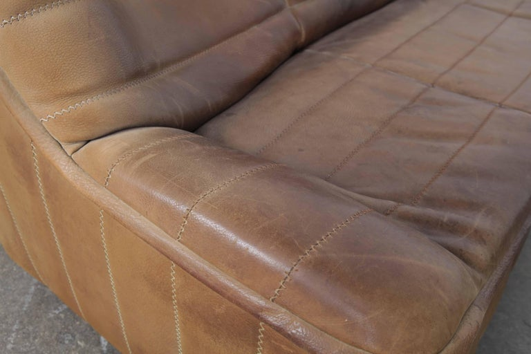 20th Century De Sede Model DS 84 Brown Leather Sofa from Switzerland For Sale