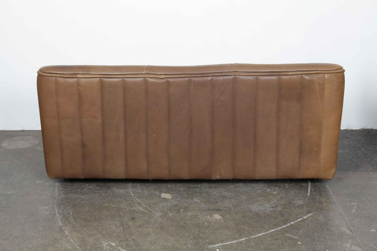 De Sede Model DS 84 Brown Leather Sofa from Switzerland For Sale 2
