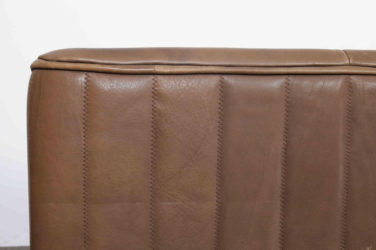 De Sede Model DS 84 Brown Leather Sofa from Switzerland For Sale 3