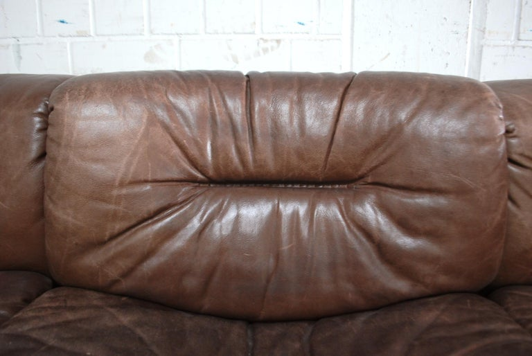 De Sede Modul Vintage Leather Sofa brown For Sale 5