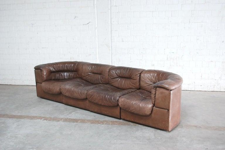 De Sede Modul Vintage Leather Sofa brown For Sale 6