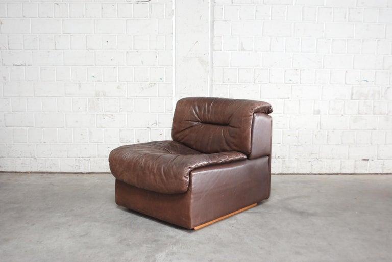De Sede Modul Vintage Leather Sofa brown For Sale 7