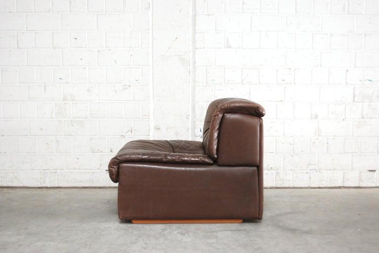 De Sede Modul Vintage Leather Sofa brown For Sale 8