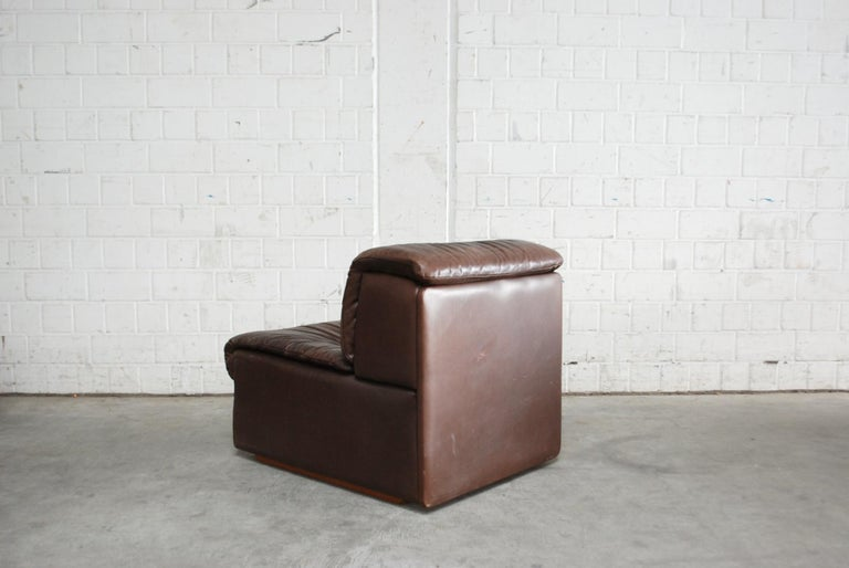 De Sede Modul Vintage Leather Sofa brown For Sale 9