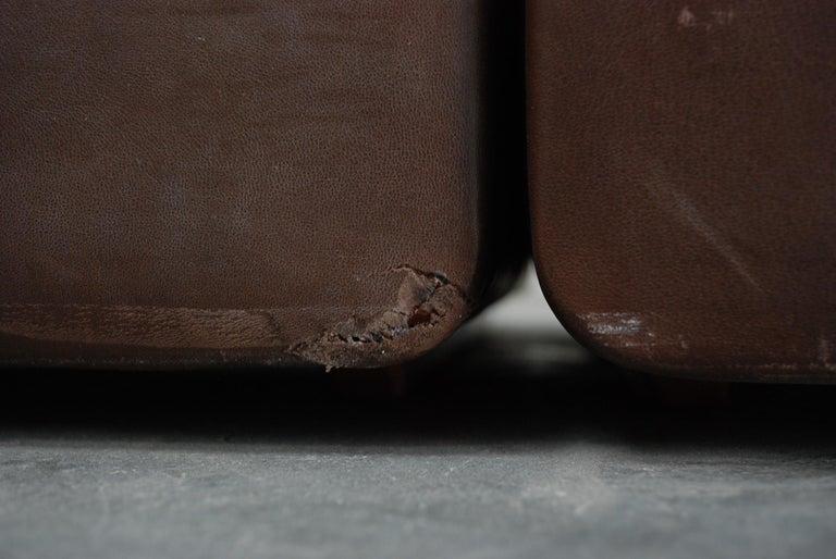 De Sede Modul Vintage Leather Sofa brown For Sale 12