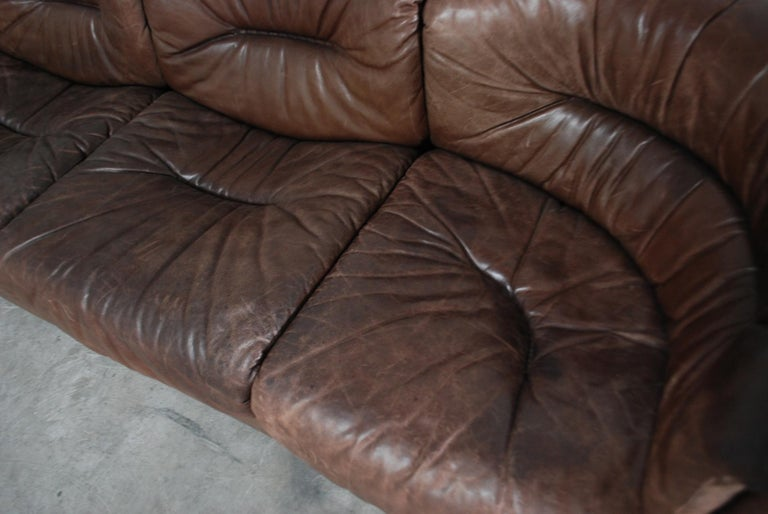 De Sede Modul Vintage Leather Sofa brown For Sale 1