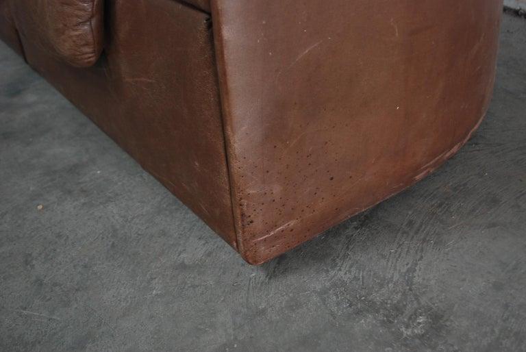 De Sede Modul Vintage Leather Sofa brown For Sale 2