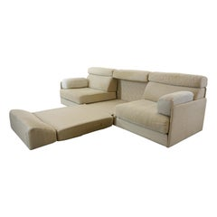 De Sede Modular Sofa DS-76 in Canvas, Convertible Daybed, Guestbed, 1970s