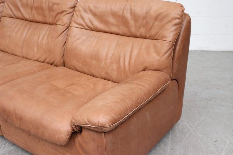 De Sede Natural Leather 3-Seat Sofa For Sale 1