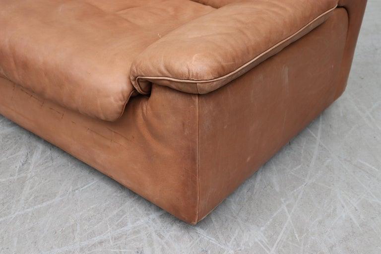 De Sede Natural Leather 3-Seat Sofa For Sale 2