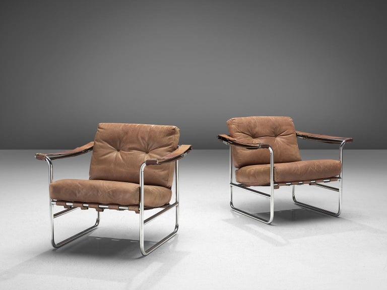 De Sede Pair of Leather Armchairs by Hans Eichenberger In Good Condition In Waalwijk, NL