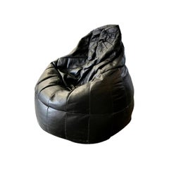 De Sede Patchwork Black Leather Bean Bag