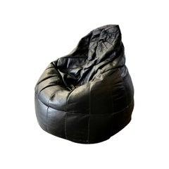 De Sede Patchwork Black Leather Bean Bag