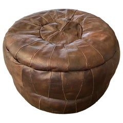 De Sede Patchwork Brown Leather Ottoman